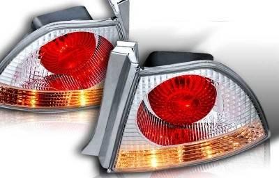 WinJet - Honda Accord WinJet Altezza Taillight - Chrome & Clear - WJ20-0026-01