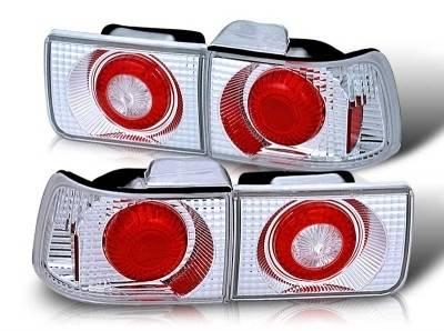 WinJet - Honda Accord 4DR WinJet Altezza Taillight - Chrome & Clear - WJ20-0028-01