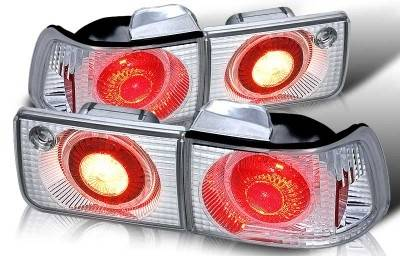 WinJet - Honda Accord 4DR WinJet Altezza Taillight with Halo - Chrome & Clear - WJ20-0029-01
