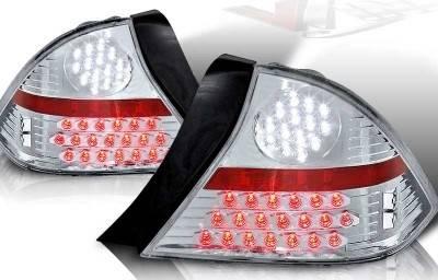 WinJet - Honda Civic 2DR WinJet LED Taillight - Chrome & Clear - WJ20-0032-01