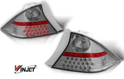 WinJet - Honda Civic 2DR WinJet LED Taillight - Chrome & Smoke - WJ20-0032-02