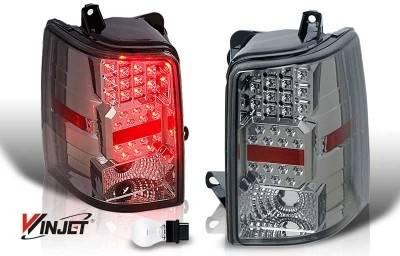 WinJet - Jeep Grand Cherokee WinJet LED Taillight - Chrome & Smoke - WJ20-0038-02