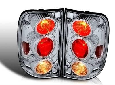 WinJet - Toyota Tacoma WinJet Altezza Taillight - Chrome & Clear - WJ20-0046-01