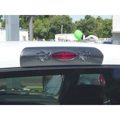 V-Tech - Dodge Ram V-Tech 3rd Brake Light Cover - Oval Style with Flame - 79070