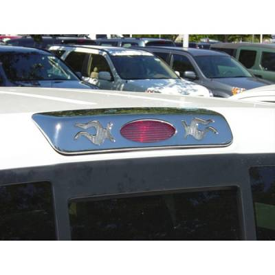 V-Tech - Ford F150 V-Tech 3rd Brake Light Covers - Flame Style- Chrome - 1379089