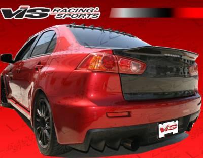 VIS Racing. - Mitsubishi Lancer VIS Racing Demon Fiberglass Trunk - 08MTEV104DDEM-020