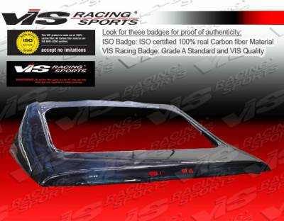 VIS Racing - Nissan 300Z VIS Racing OEM Style Carbon Fiber Hatch - 90NS3002DOE-020C