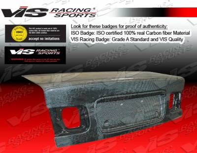 VIS Racing - Honda Civic 2DR VIS Racing OEM Carbon Fiber Trunk - 96HDCVC2DOE-020C
