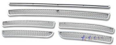 APS - Volkswagen Touareg APS Wire Mesh Grille - Bumper - Stainless Steel - V75513T