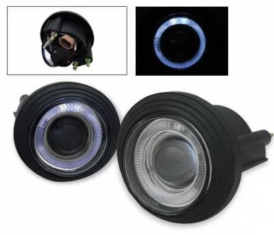 4CarOption - GMC Envoy 4CarOption Halo Projector Fog Lights - XT-FGPR-ENV-0205