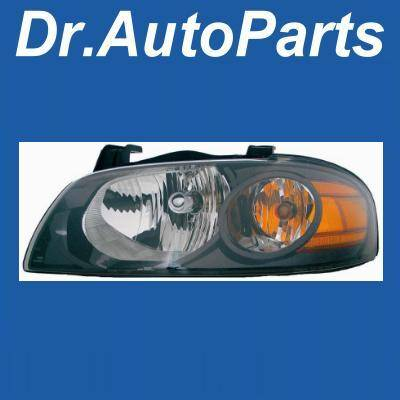 Custom - Black Housing Clear Lense Headlight - Amber - Driver side