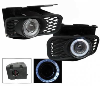 4CarOption - Ford F150 4CarOption Halo Projector Fog Lights - XT-FGPR-F150-9903