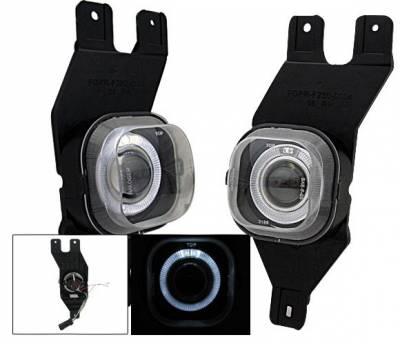 4CarOption - Ford F350 4CarOption Halo Projector Fog Lights - XT-FGPR-F250-0104