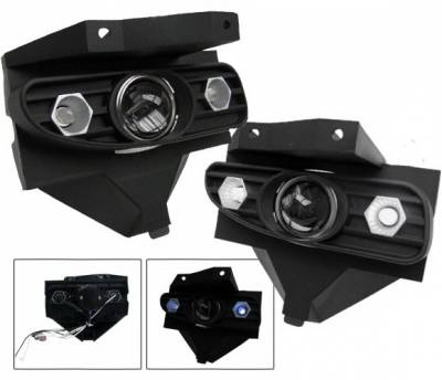 4CarOption - Ford Mustang 4CarOption Halo Projector Fog Lights - XT-FGPR-MST-9904