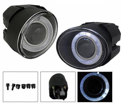 4CarOption - Nissan Maxima 4CarOption Halo Projector Fog Lights - XT-FGPR-MXM-0001