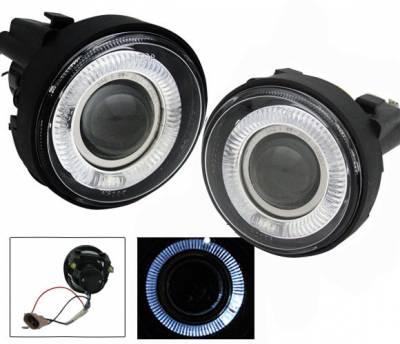 4CarOption - Dodge Neon 4CarOption Halo Projector Fog Lights - XT-FGPR-NEON-0305