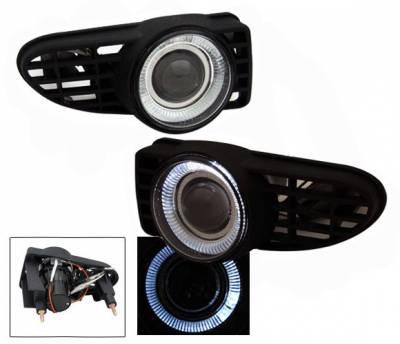 4CarOption - Chrysler PT Cruiser 4CarOption Halo Projector Fog Lights - XT-FGPR-PTCS-0005