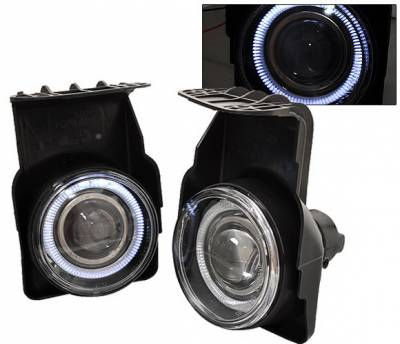 4CarOption - GMC Sierra 4CarOption Halo Projector Fog Lights - XT-FGPR-SIRA-0304