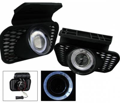 4CarOption - Chevrolet Silverado 4CarOption Halo Projector Fog Lights - XT-FGPR-SLV-0305