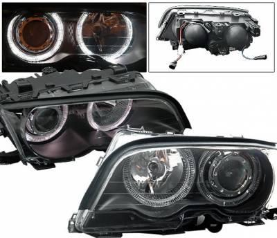 4CarOption - BMW 3 Series 4CarOption Halo Projector Headlights - XT-HLR-E4698012BC-2