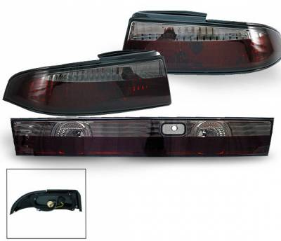 4CarOption - Nissan 240SX 4CarOption Altezza Taillights - XT-TLZ-240SX9598BK-6