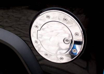 Aries - Hummer H2 Aries Chrome Fuel Lid with Hinge