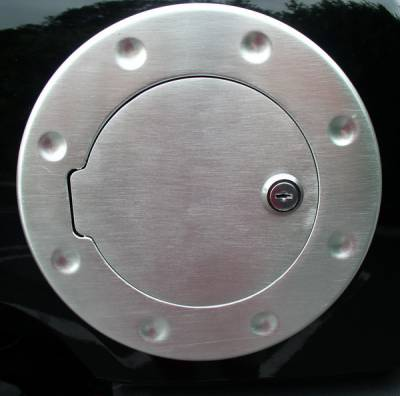 Aries - Hummer H3 Aries Brushed Aluminum Fuel Lid with Hinge