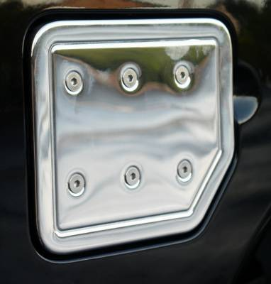 Aries - Nissan Titan Aries Stainless Chrome Fuel Lid with Hinge