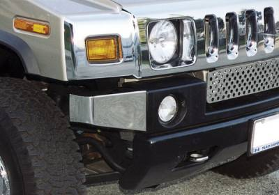 Aries - Hummer H2 Aries Front End Stainless Bumper Corners - Set