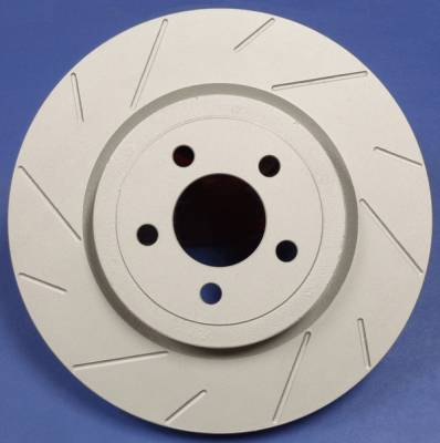 SP Performance - Volkswagen R32 SP Performance Slotted Vented Front Rotors - T58-308