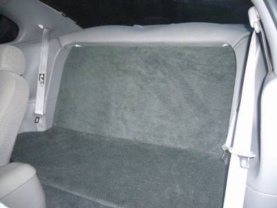 AM Custom - Ford Mustang Rear Seat Delete Kit - Black