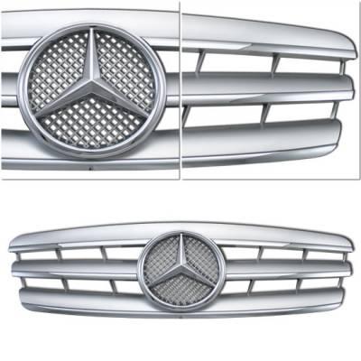 Custom - W203 C Class Grille - Silver