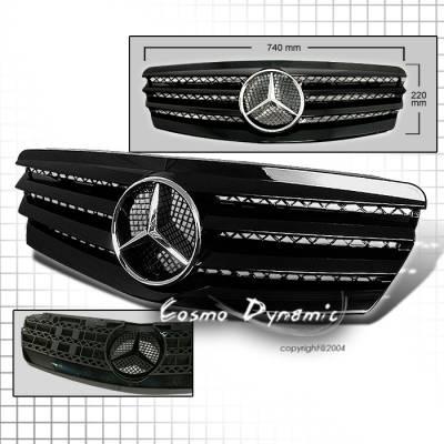 Custom - SL Style E Class Grille - Black Silver