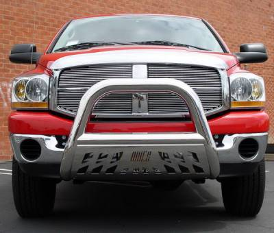 Aries - Dodge Ram Aries Big Horn Bar with Stainless Skid - 4 Inch