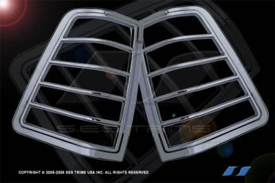 SES Trim - Nissan Titan SES Trim ABS Chrome Taillight Trim - TL115