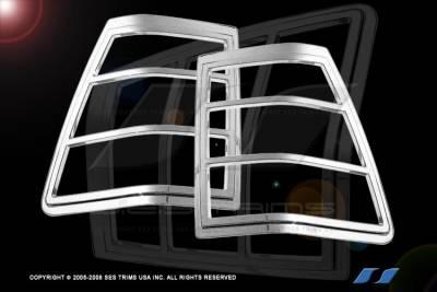 SES Trim - Jeep Grand Cherokee SES Trim ABS Chrome Taillight Trim - TL120