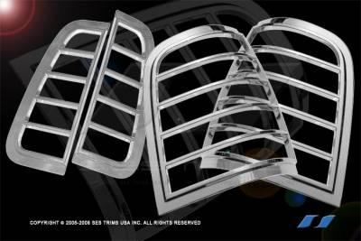 SES Trim - Lincoln Aviator SES Trim ABS Chrome Taillight Trim - TL124