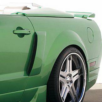 Street Scene - Ford Mustang Street Scene Quarter Panel Side Brake Ducts - 950-70737