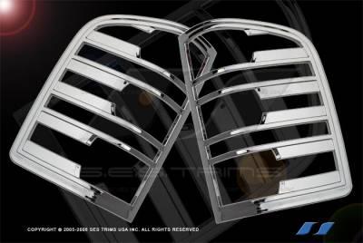 SES Trim - Chevrolet Silverado SES Trim ABS Chrome Taillight Trim - TL136