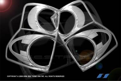 SES Trim - Toyota Tundra SES Trim ABS Chrome Taillight Trim - TL137