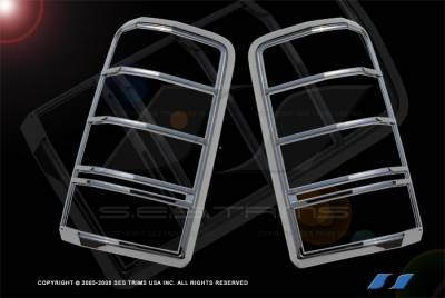 SES Trim - Dodge Nitro SES Trim ABS Chrome Taillight Trim - TL139