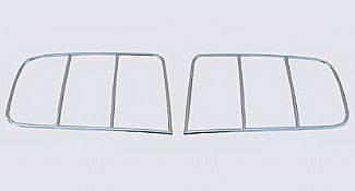 Street Scene - Ford Mustang Street Scene Taillight Bezels - Chrome - 950-73101