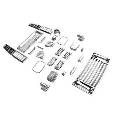 Spyder Auto - Hummer H2 Spyder Chrome Accessory Kit - 36 Piece - CA-SET-HH202-36PC