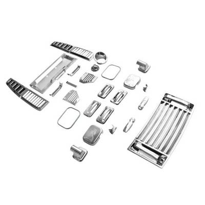 Spyder - Hummer H2 Spyder Chrome Accessory Full Set - 36PC - CA-SET-HH202-36PC