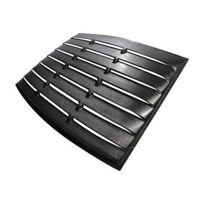 Spyder - Ford Mustang Spyder Rear Back Window Louver Black Cover - HS-WC-FM05-BK