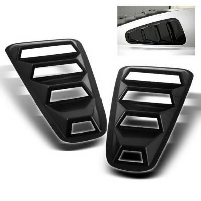 Spyder Auto - Ford Mustang Spyder Quarter Window Louver -Black - HS-WL-FM05