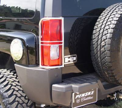 Aries - Hummer H3 Aries Taillight Guard Covers