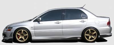 Chargespeed - Mitsubishi Lancer Chargespeed Bottom Line Side Skirts
