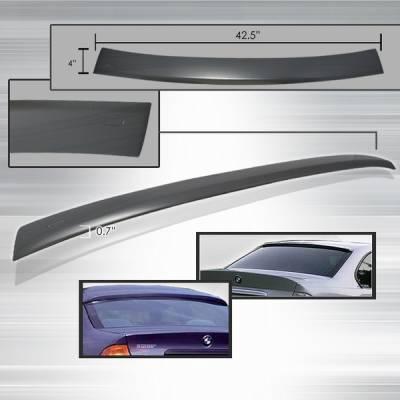 Custom Disco - BMW 3 Series Custom Disco Rear Roof Spoiler - SPL-E364-ABS