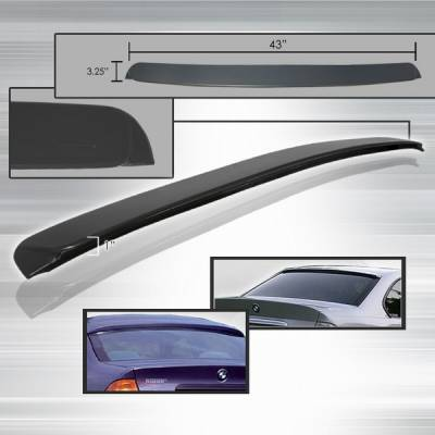 Custom Disco - BMW 3 Series Custom Disco Rear Roof Spoiler - SPL-E904-ABS